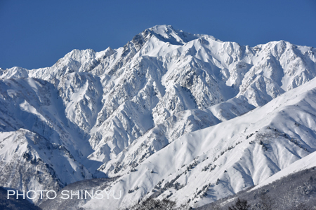 どっしりと重厚な五竜岳