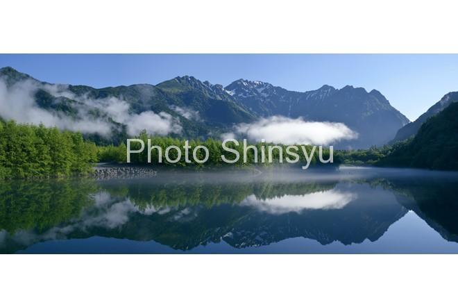 パノラマ大正池からの穂高連峰