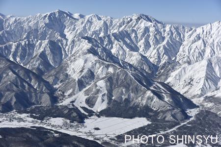 白馬五竜スキー場と鹿島槍ヶ岳