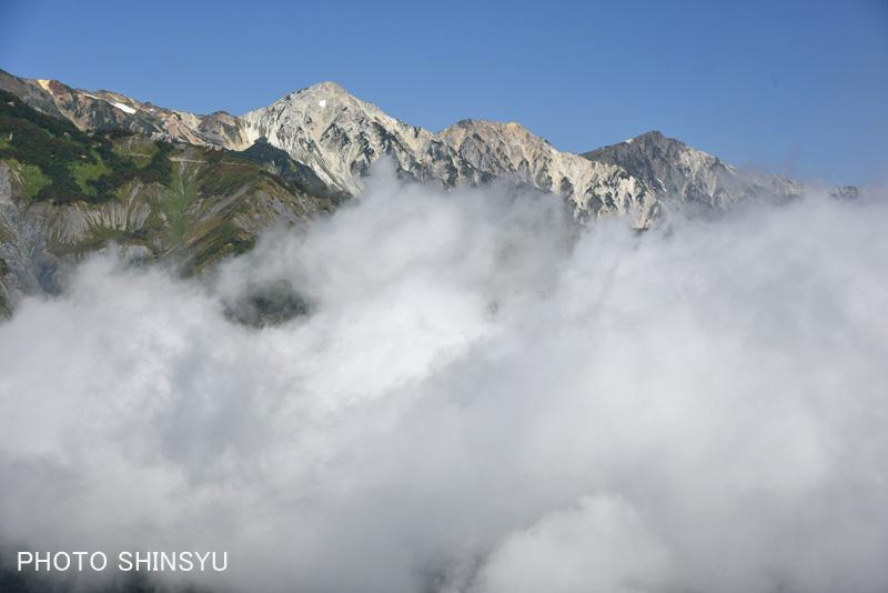 遠見尾根からの白馬三山