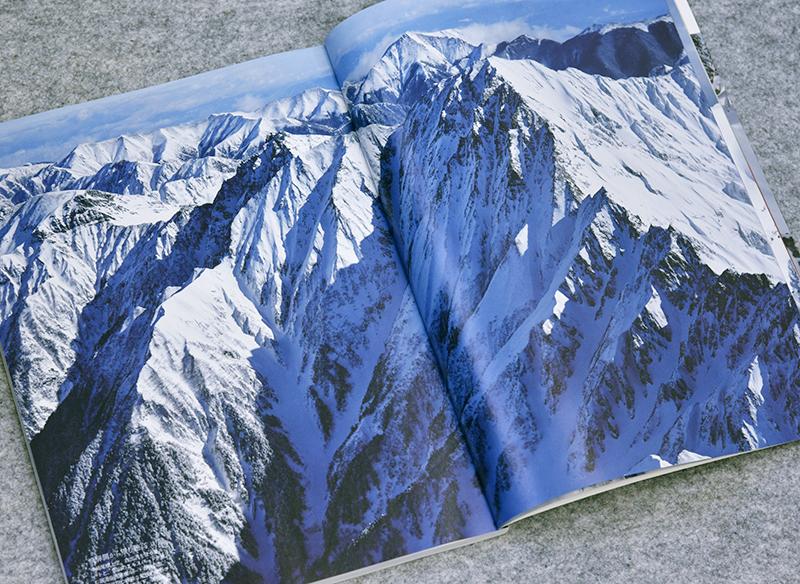 厳冬期の飛騨側から見た穂高連峰