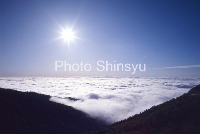 午後の雲海と太陽