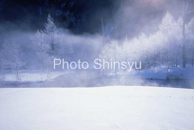 霧氷の上高地 田代池
